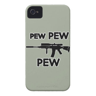 Pew pew gun iPhone 4 Case-Mate cases