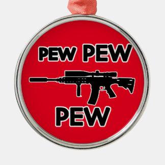 Pew pew gun metal ornament