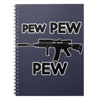 Pew pew gun notebook