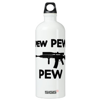 Pew pew gun water bottle