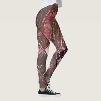 Pewter and Pink Abstract Leggings II