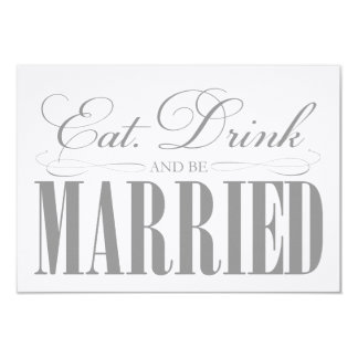 Pewter Eat, Drink & Be Married   Enclosure Card