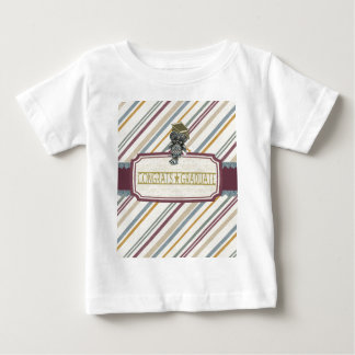 Pewter Look Owl Perched on Tags, Congrats Graduate Baby T-Shirt