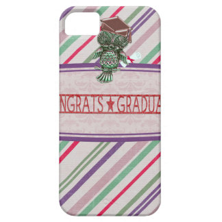 Pewter Look Owl Perched on Tags, Congrats Graduate Case For The iPhone 5