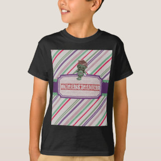 Pewter Look Owl Perched on Tags, Congrats Graduate T-Shirt