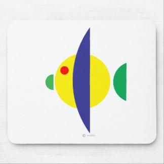 Pez amarillo mousepads