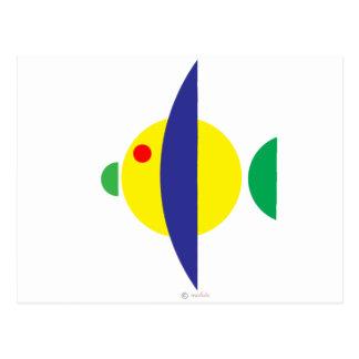 Pez amarillo postcard