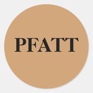 PFATT- Primitive Folk Art Trinkets and Treasures Classic Round Sticker