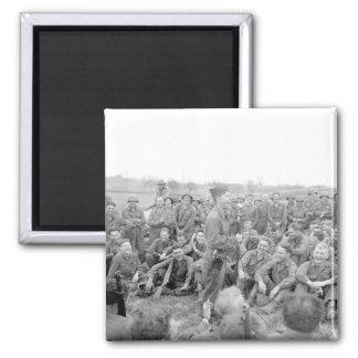Pfc. Mickey Rooney imitates some_War Image Square Magnet