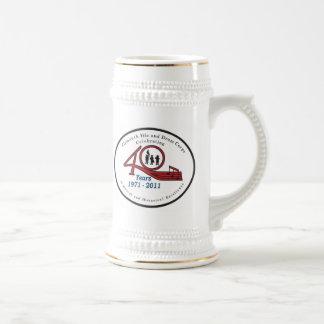 PFDC Stein with bumper sticker image. Beer Steins