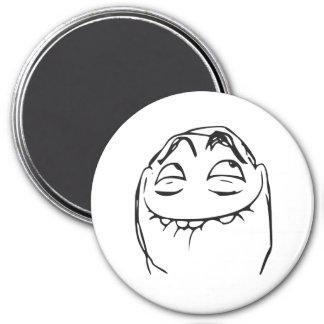 PFFTCH Laughing Rage Face Comic Meme 7.5 Cm Round Magnet
