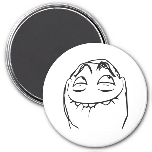 PFFTCH Laughing Rage Face Comic Meme Fridge Magnets