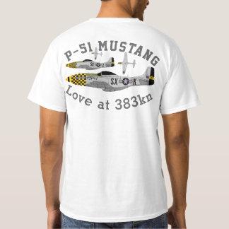 """Pfive1 P-51 Mustang """"Love at 383 kn"""" T-Shirt"""