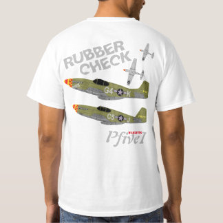 "Pfive1 P-51 Mustang ""Rubber Check"" T-Shirt"