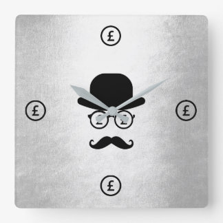 Pfound Sterling Londoner Mustache Hat Wall Clocks