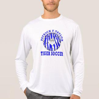 PFT Tiger Face Soccer Ball Long Sleeve White T-Shirt