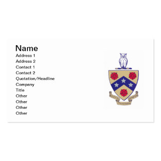 PGD Coat of Arms Pack Of Standard Business Cards