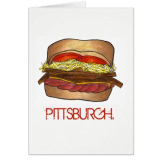 PGH Pittsburgh Pennsylvania Sandwich Foodie PA Card