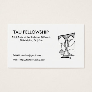 Ph-01, TAU FELLOWSHIP, Third Order of the Socie... Business Card