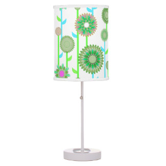 PH&D Flower Power Contemporary Table Lamp Green