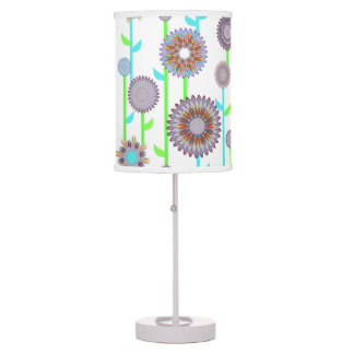 PH&D Flower Power Contemporary Table Lamp Lilac