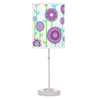 PH&D Flower Power Contemporary Table Lamp Purple