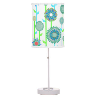 PH&D Flower Power Contemporary Table Lamp Teal