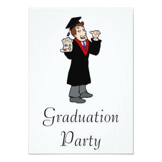 Ph D Graduate 13 Cm X 18 Cm Invitation Card