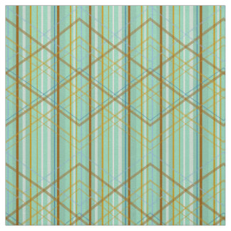 PH&D Modern Plaid Stripe Fabric Emerald