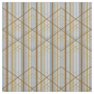 PH&D Modern Plaid Stripe Fabric Silver
