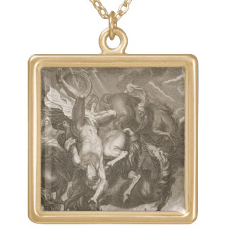 Phaeton Struck Down by Jupiter's Thunderbolt, 1731 Gold Plated Necklace