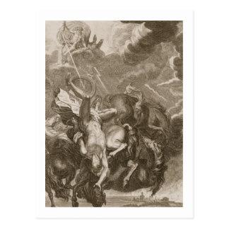 Phaeton Struck Down by Jupiter's Thunderbolt, 1731 Postcard