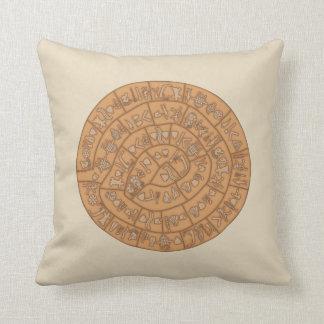 Phaistos disc cushion