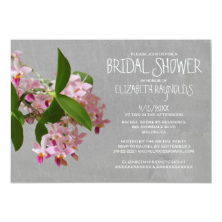 Phalaenopsis Orchid Bridal Shower Invitations