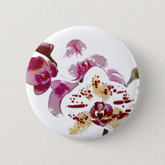 Phalaenopsis Orchid Flower Bouquet 6 Cm Round Badge