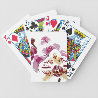 Phalaenopsis Orchid Flower Bouquet Bicycle Playing Cards