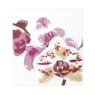 Phalaenopsis Orchid Flower Bouquet Notepad