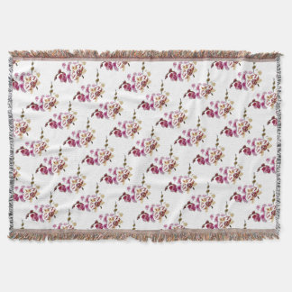 Phalaenopsis Orchid Flower Bouquet Throw Blanket