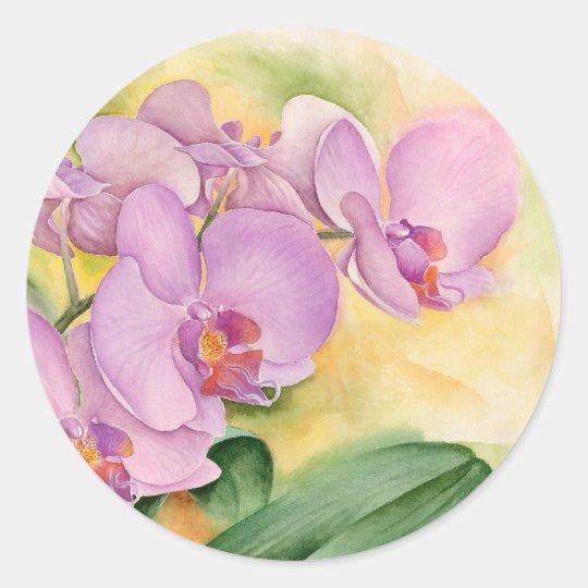 Phalaenopsis Orchid Flowers - Multi Round Sticker