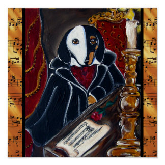 Phantom Dachshund Poster