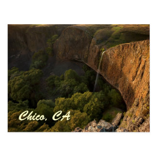 Phantom Falls in Chico California at Sunset Postcard
