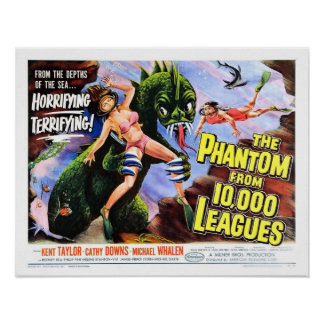 """Phantom from 10,000 Leagues"" Poster"