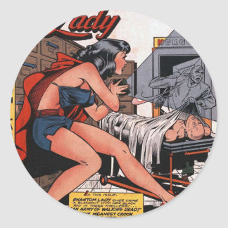 Phantom Lady and the Black Light Classic Round Sticker