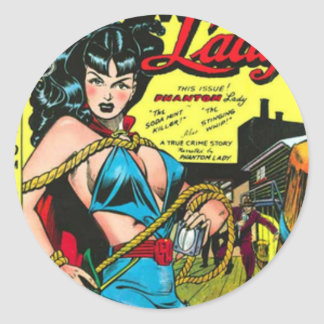 Phantom Lady Classic Round Sticker