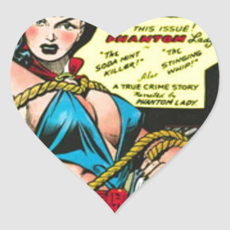 Phantom Lady Heart Sticker
