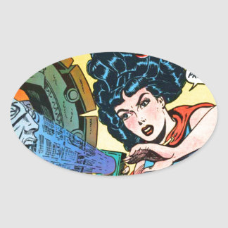 Phantom Lady -- Meanest Men in the World Oval Sticker