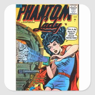 Phantom Lady -- Meanest Men in the World Square Sticker