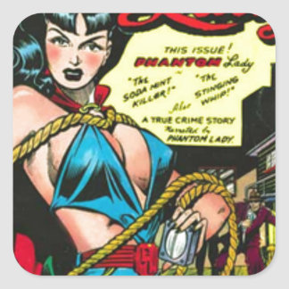 Phantom Lady Square Sticker