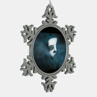 Phantom Mask Snowflake Ornament