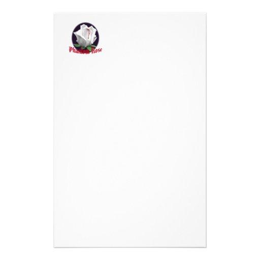 Phantom Rose Stationary Stationery Paper